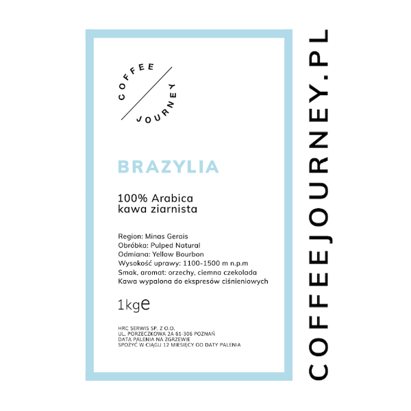 Kawa ziarnista Coffee Journey Brazylia 1kg